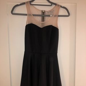 Dresses & Skirts - Black/nude mesh fit and flare dress